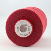 Red Sewing Thread Thickness 80 Polyester 5000 m brick red Trecore Forbitex
