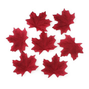 500Pcs Artificial Silk Maple Leaves Vivid Fake Flower Leaf For Home Wall Wedding Party Decoration