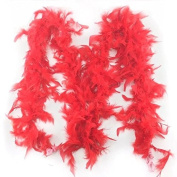 Celine lin 2 yards\lot Clothing Accessories Turkey Feather Multi Colour Strip Fluffy Boa Happy Birthday Party Wedding Decorations Supplies,Red