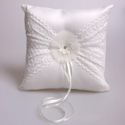 Lace Embroidered Wedding Ring Pillow Cushion fashion Wedding Decorations Bride products 21X21cm