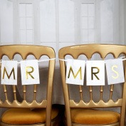"Neviti - Scripted Marble - ""Mr & Mrs"" Chair Bunting"