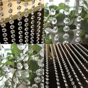 1m Acrylic Crystal Bead Curtain Window Door Hanging Wedding Decor 1 pc
