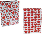 Out of the Blue – 2 Large & # X153; Heart Paper Gift Bag 25 x 8.5 x 34.5 cm