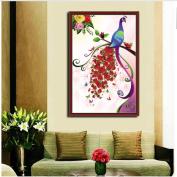 Moresave 5D Diamond Painting Beauty Peacock Rhinestone Cross Stitch Living Room Decoration