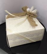 STOCK 20 PEZZI DESIGN WEDDING MATRIMONIO Scatola scatolina pieghevole portaconfetti decorazioni esclusione BOMBONIERA