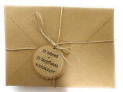 25 Kraft Envelopes 133 x 188 mm with 25 tarjetones 300 Grammes. For Your Wedding Invitations