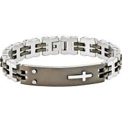 Primal Steel Stainless Steel Black IP-Plated ID Bracelet, 22cm