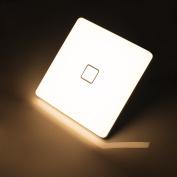 Öuesen 24W LED Ceiling Light 2050LM 3000K Warm White Square LED Ceiling Lamp Fittings LED Flush Ceiling Light for Bathroom Kitchen Bedroom Living room Hallway