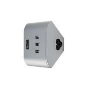 Osram LED Under-Cabinet Luminaire Linear LED Corner USB Socket Silver, , 15 W