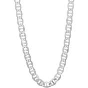 PORI Jewellers Italian Sterling Silver Marina Chain Men's Necklace, 80cm