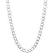 PORI Jewellers Italian Sterling Silver Cuban Chain Men's Necklace, 41cm