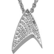 Star Trek Unisex White Crystal Stainless Steel Pendant