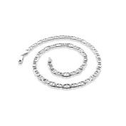 PORI Jewellers Italian Sterling Silver Marina Chain Men's Necklace, 46cm
