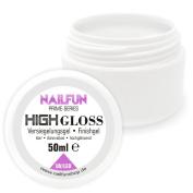 Nailfun 50ml High Gloss UV + LED Sealing Gel (Finish) Dünnfliessend