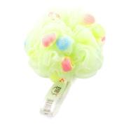 Unique BargainsBathing Skin Care Light Green Meshy Hole Ball Scrubber Shower Pouffe