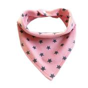 Kid Scarf Warm Scarves Fuibo Baby Towel Triangle Scarf Feeding Smock Bibs Burp Cloths Christmas Gift for Kids Neckerchief