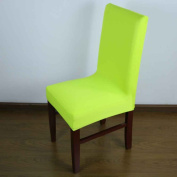 Flypv Simple Chair Cover Wedding Decoration Solid Colours Dining Chair Covers Hotel Chair Cover Fruit green