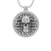 Extremely Detailed & Artistic Skull Necklace