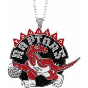 NBA Men's Crystal Stainless Steel Toronto Raptors Medallion Pendant, 60cm