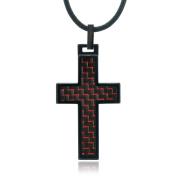 Daxx Men's Tungsten Cross Pendant Fashion Necklace, 50cm