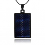 Daxx Men's Tungsten Carbon Fibre Pendant Fashion Necklace, 50cm