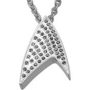 Star Trek Unisex Black Crystal Stainless Steel Pendant