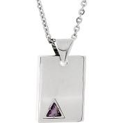 Star Trek Unisex Purple Crystal Stainless Steel Square Pendant