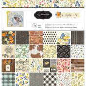 Pebbles Single-Sided Paper Pad 30cm x 30cm 48/Pkg-Jen Hadfield Simple Life