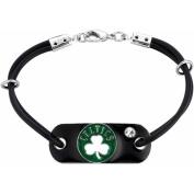 NBA Men's Crystal Fine Silver-Tone Boston Celtics Bracelet
