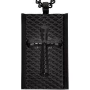American Steel Jewellery Men's Stainless Steel Black Cross Dog Tag, 60cm