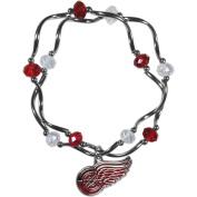 NHL Detroit Redwings Stretch Bead Bracelet