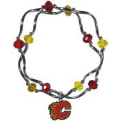 NHL Calgary Flames Stretch Bead Bracelet