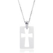 Daxx Men's Ceramic Cross Pendant, 46cm
