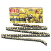 DID 530VX Pro-Street X-Ring VX Series Chain 130 Links Gold/Black for Street Motorcycle
