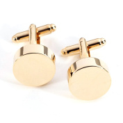 Bey-Berk Gold-Plated Round Cufflinks