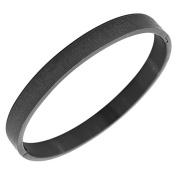 EDFORCE Stainless Steel Black Men's Religious Lord's Prayer Padre Nuestro Spanish Cuff Bracelet
