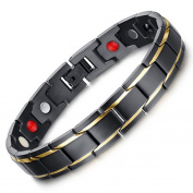 Mens Bracelet, Coxeer Fashionable Bracelet Magnetic Titanium Hand Chain Health Bracelet for Boys