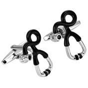 Unusual Doctor Style Stainless Steel Stethoscope Cufflinks for Men