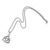 Evelots Mens Stainless Steel Celtic Knot Irish Triquetra Pendant Necklace, 60cm