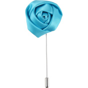 Wedding Collection Aqua Rose Lapel Boutonniere Flower Gift Boxed by Puentes Denver