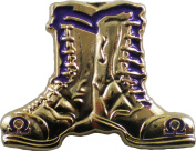 Omega Psi Phi Gold Boots Lapel Pin [Gold - 3.2cm ]