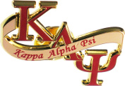 Kappa Alpha Psi Banner Lapel Pin [Gold - 3.2cm ]