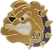 Omega Psi Phi Bulldog Face Lapel Pin [Gold - 2.5cm ]