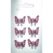Mini Hair Grips Hair Clamps Claw Clamps Mini Clamps Mini Grips Many Choices Pink Glitter Butterfly