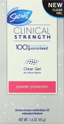 3 Pack Secret Clinical Strength Clear Gel Powder Protection 45ml Each