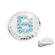 The Elixir Golf Hand-Craft Australia Crystal Golf Ball Marker with Hat Clip, Initial 'B'