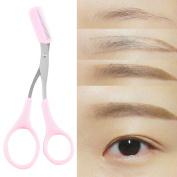 Repair Eyebrows Women Ladies Eyebrow Trimmer Comb Eyelash Hair Scissors Cutter Remover Tool