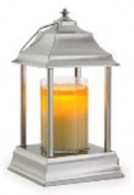 BRUSHED NICKEL Carriage Candle Warmer Lantern by Candle Warmers