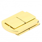 Unique Bargains 30mm x 25mm Latch Jewelery Box Guitar Case Suitcase Drawbolt Closure Gold Tone