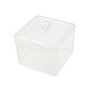 Clear Acrylic Square Makeup Storage Box Holder Case Jewellery Organiser